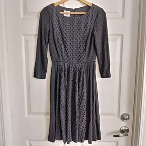 Suzi Chin for Maggy boutique gray knit dress
